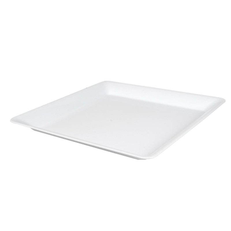 "16"" x 16"" White Square Plastic Trays"