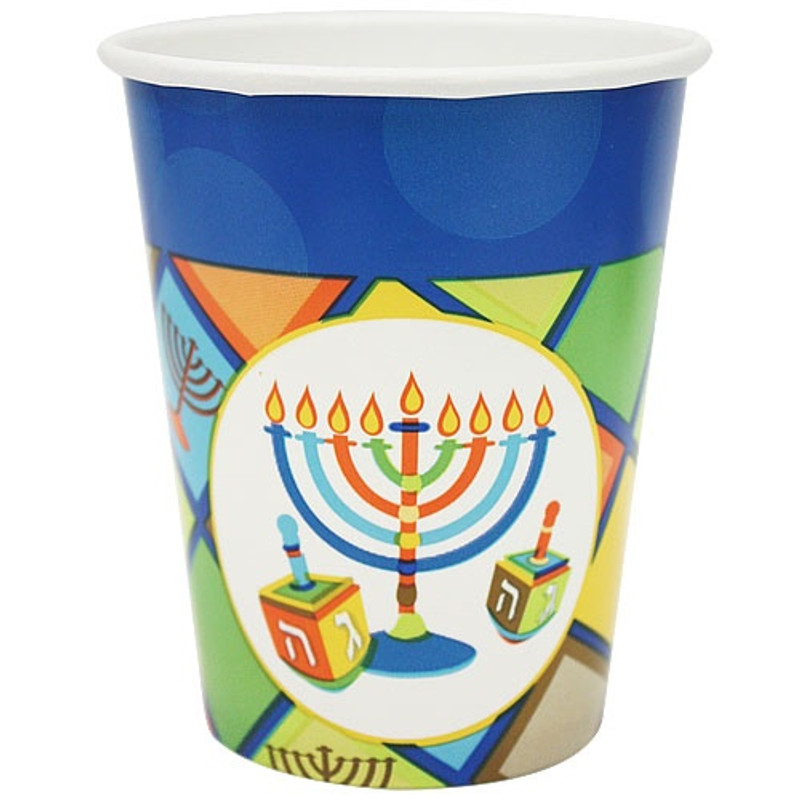 Chanukah Illumination 9 oz Paper Cups