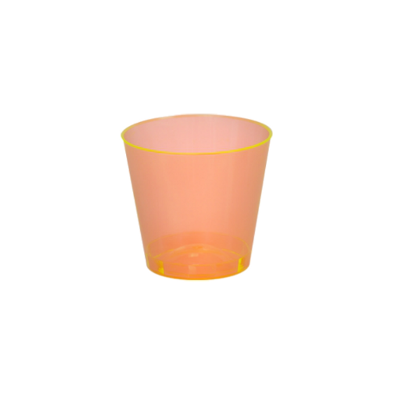 Quenchers 1 oz. Neon Orange Plastic Shot Glasses