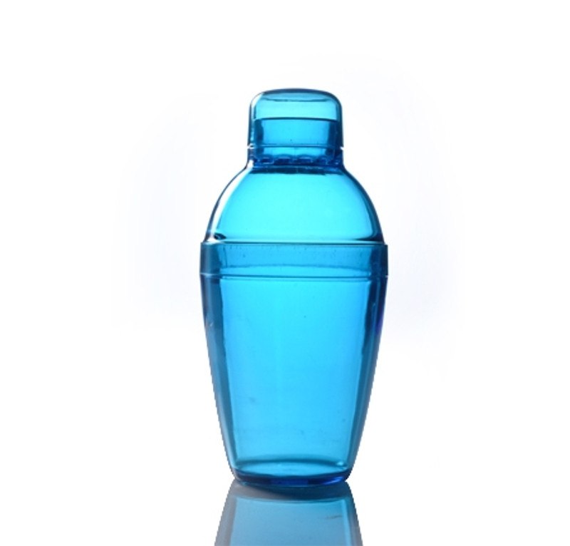 Quenchers 7 oz. Blue Plastic Cocktail Shakers