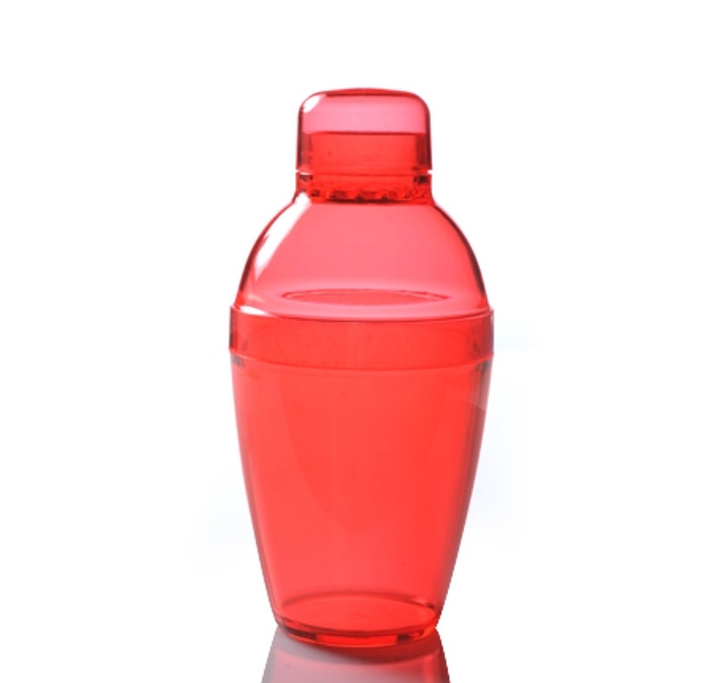 Quenchers 7 oz. Red Plastic Cocktail Shakers