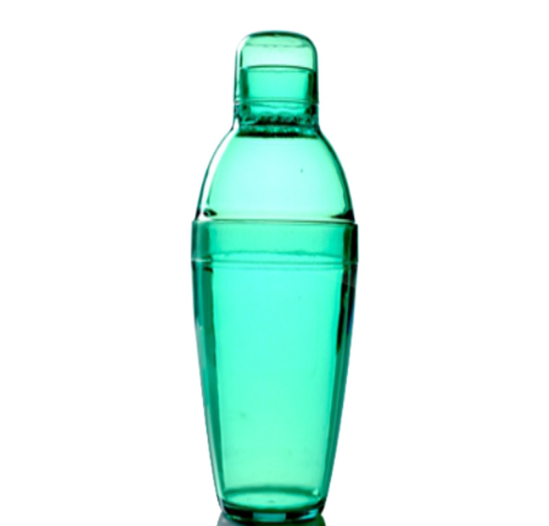 Quenchers 14 oz. Green Plastic Cocktail Shakers