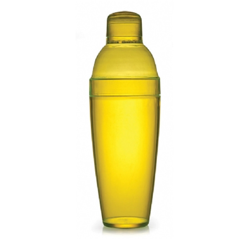 Quenchers 14 oz. Yellow Plastic Cocktail Shakers
