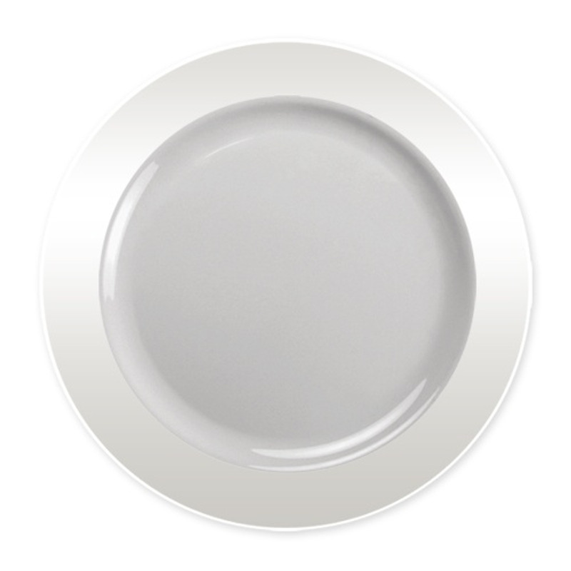 "Lillian Magnificence 9"" Clear Plastic Plates"