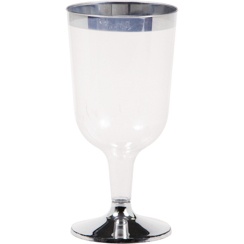 6 oz. Metallic Rim Wine Glass