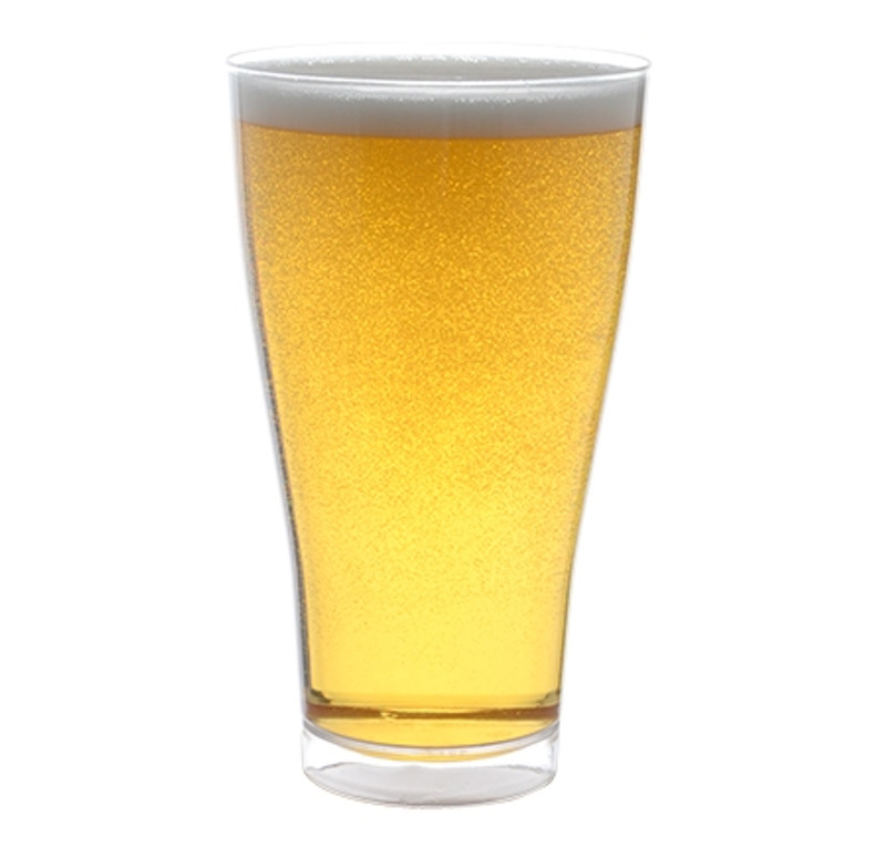 Quenchers 14 oz. Pilsner Clear Plastic Glasses