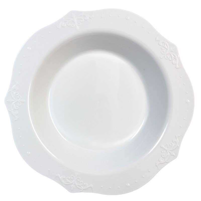 Decor China-Like Antique White Plastic Soup Bowls