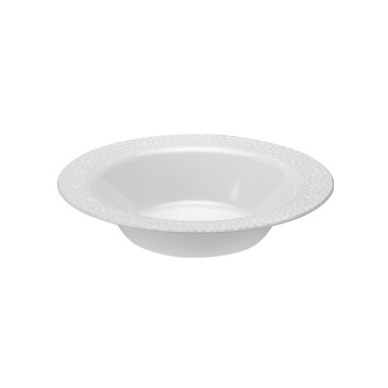 Lillian China-Like Pebbled Pearl 14 oz Plastic Bowls
