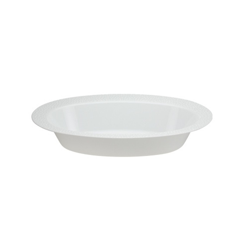 Lillian China-Like Pebbled Pearl 32 oz  Plastic Serving Bowls