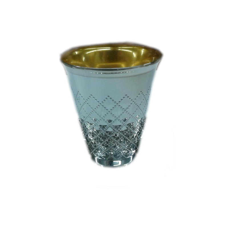 Decor Silver Plastic Wine Cups