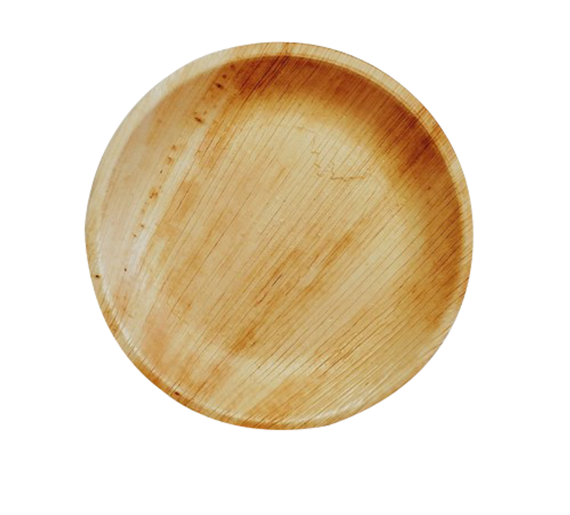 "Ecotrends 7"" Round Palm Leaf Plates"