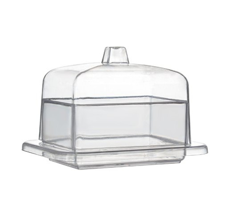 "Tiny 2.65"" Rectangular Plastic Domains w/Lid"