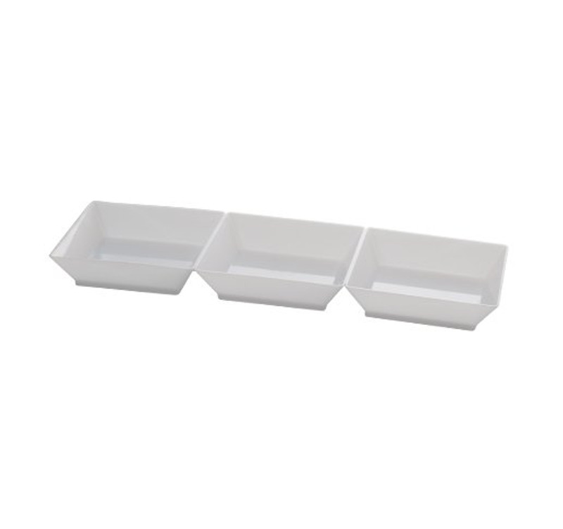 "7.5"" Sectional White Plastic Trays"