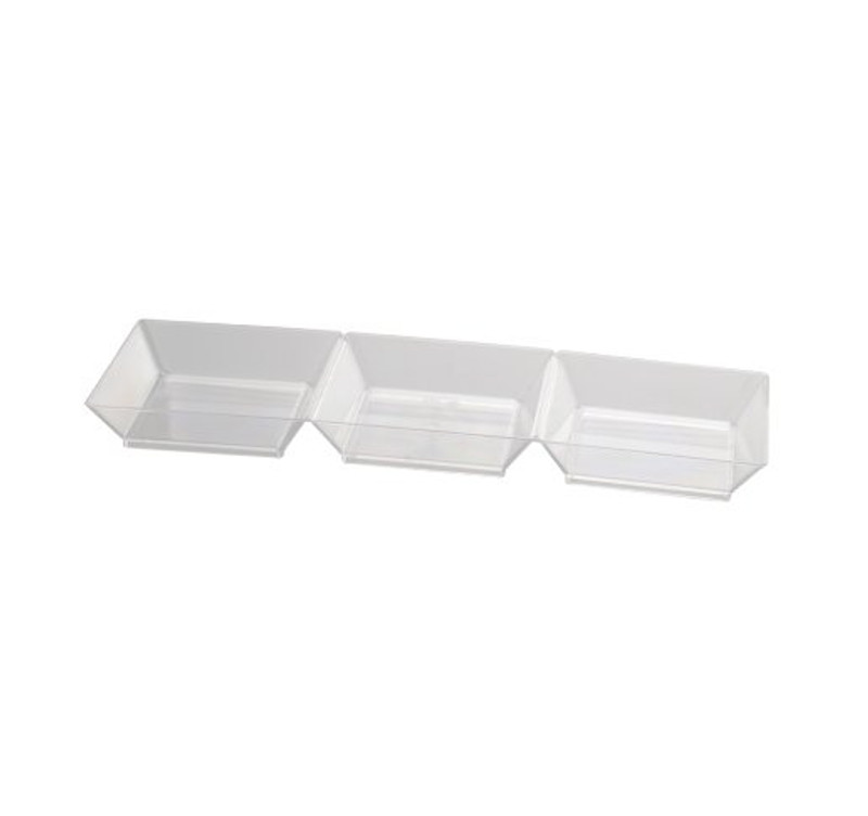 "7.5"" Sectional Clear Plastic Trays"