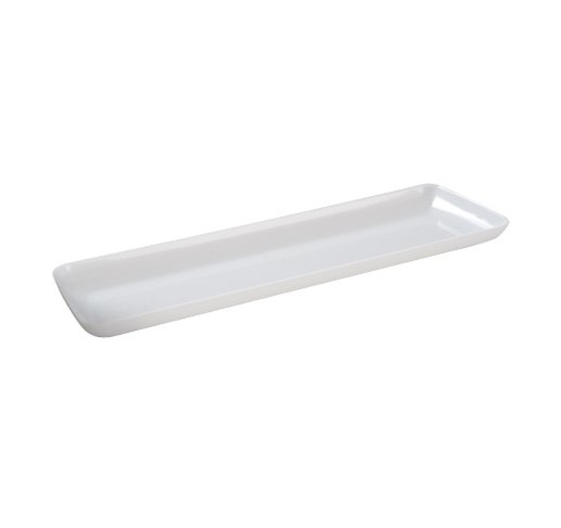 "7.5"" Rectangle White Plastic Trays"