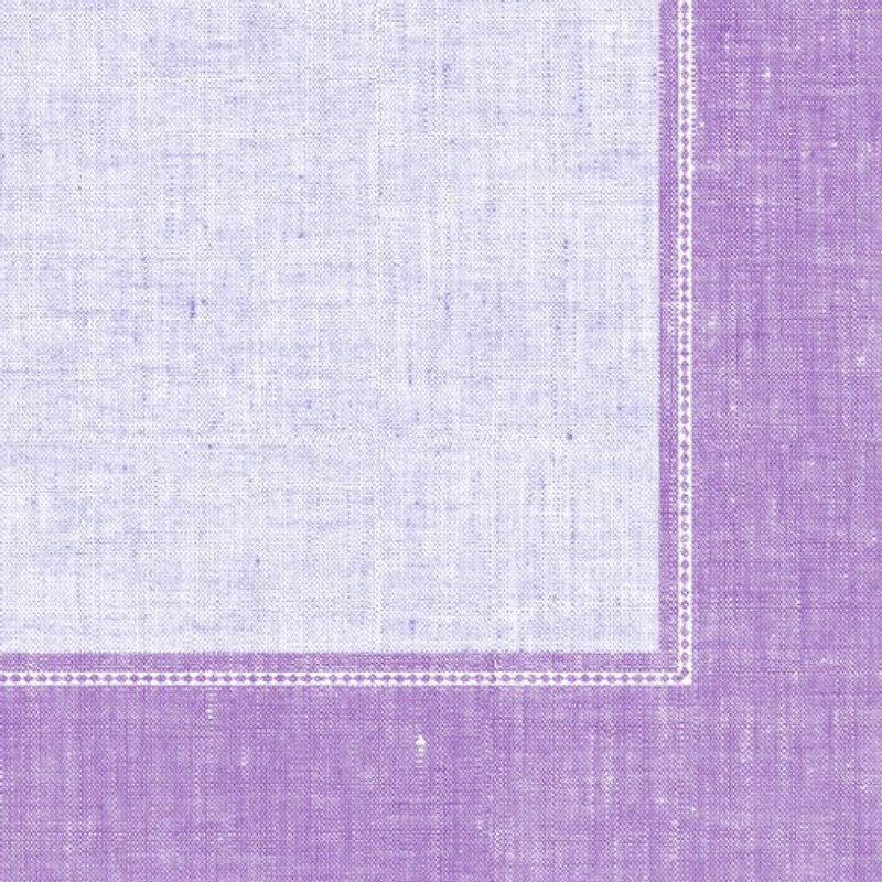 Lilac Border Linen-Like Dinner Napkins