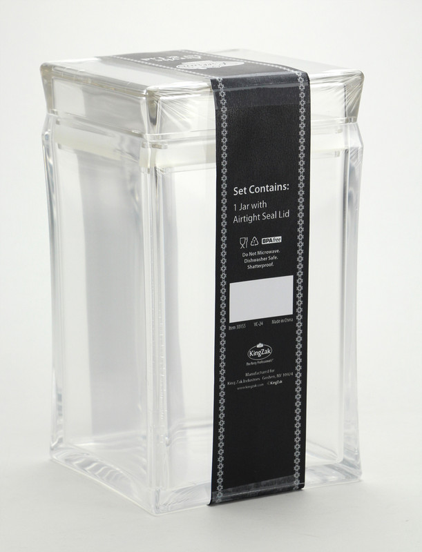 Lillian Acrylic Square Jar with Lid (Dishwasher Safe)
