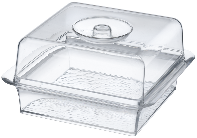 Lillian Acrylic Square Tray with Lid (Dishwasher Safe)