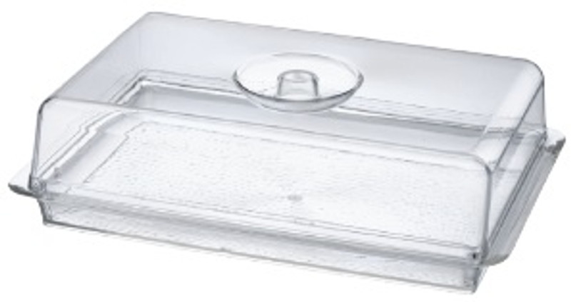 Lillian Acrylic Rectangle Tray with Lid (Dishwasher Safe)
