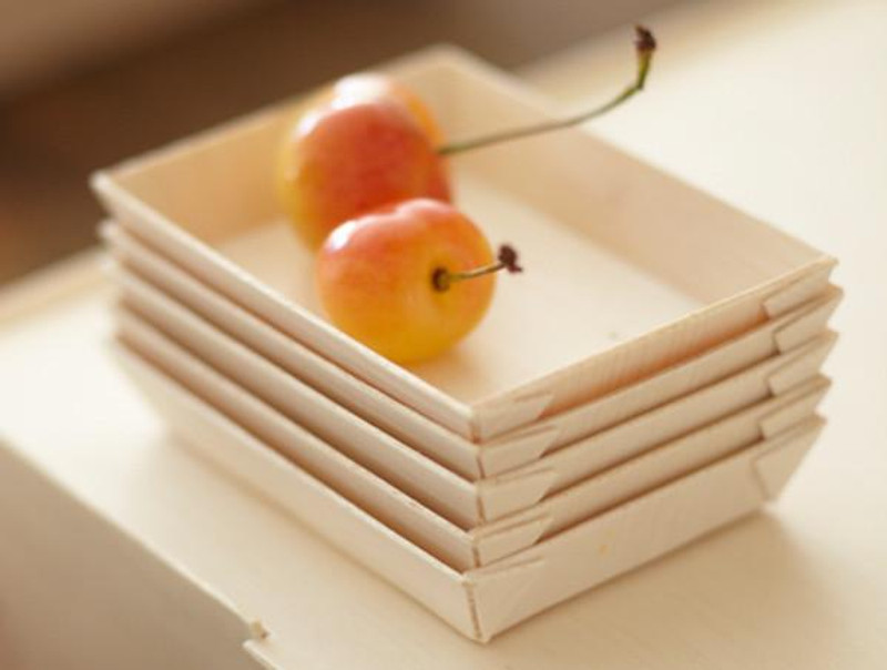 "VerTerra 2"" X 3"" Fixed Side Wooden Tray"