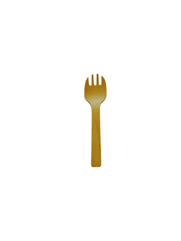 wooden disposable tasting spork