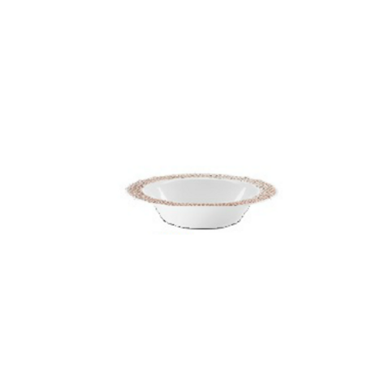 Lillian China-Like Pebbled Rose Gold 5 oz Plastic Bowls