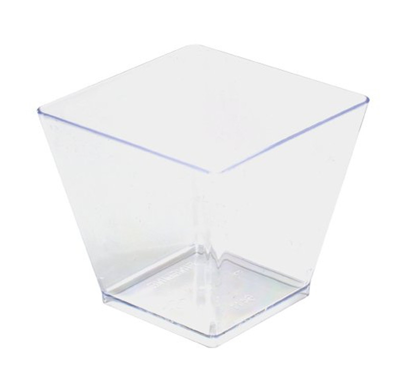 Tiny 2 oz. Clear Plastic Cubes