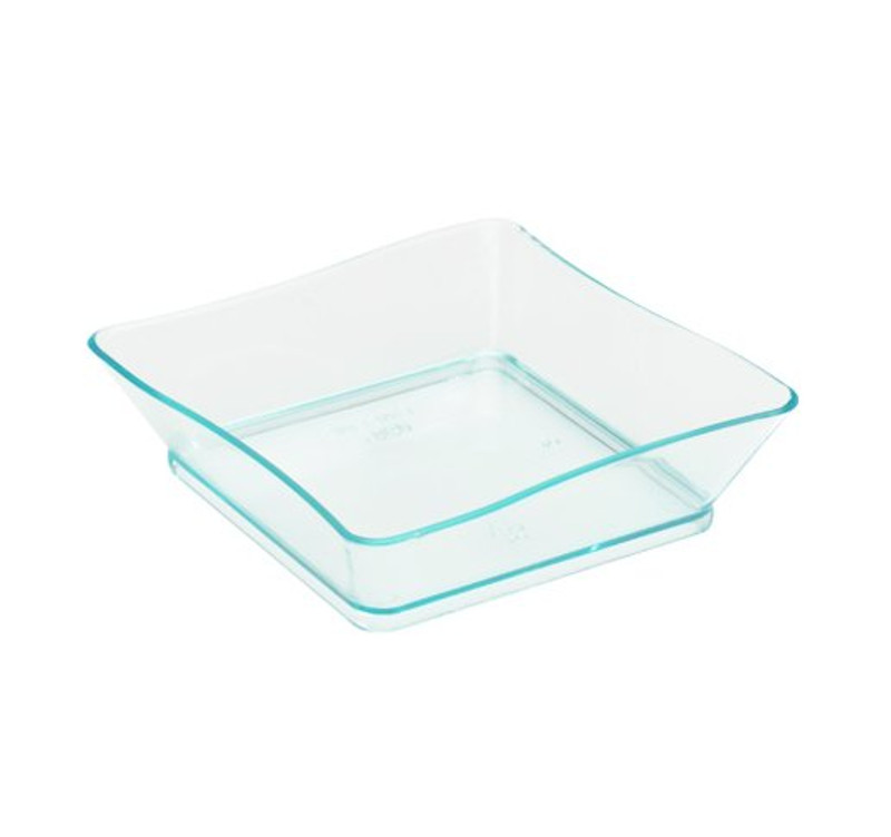 "Tiny 2.25"" x 2.25"" Green Plastic Trays"