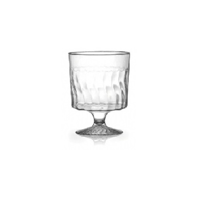 Flairware 1-Piece 2 oz. Plastic Mini Wine Glasses