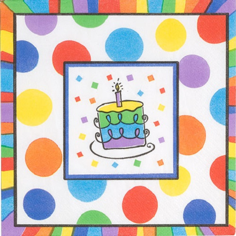 Celebration Birthday Lunch Napkins