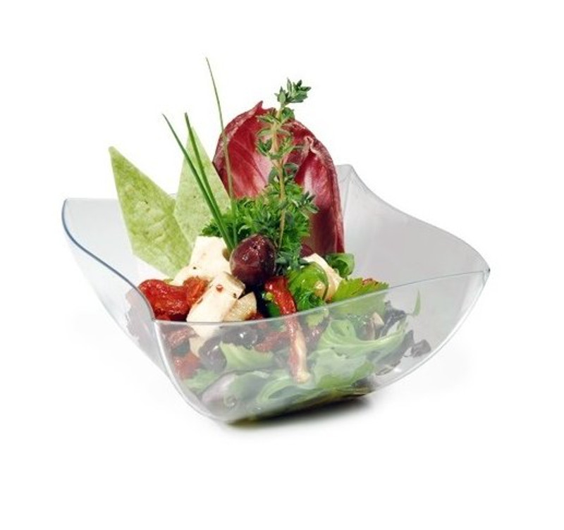 Wavetrends 64 oz. Clear Plastic Serving Bowls