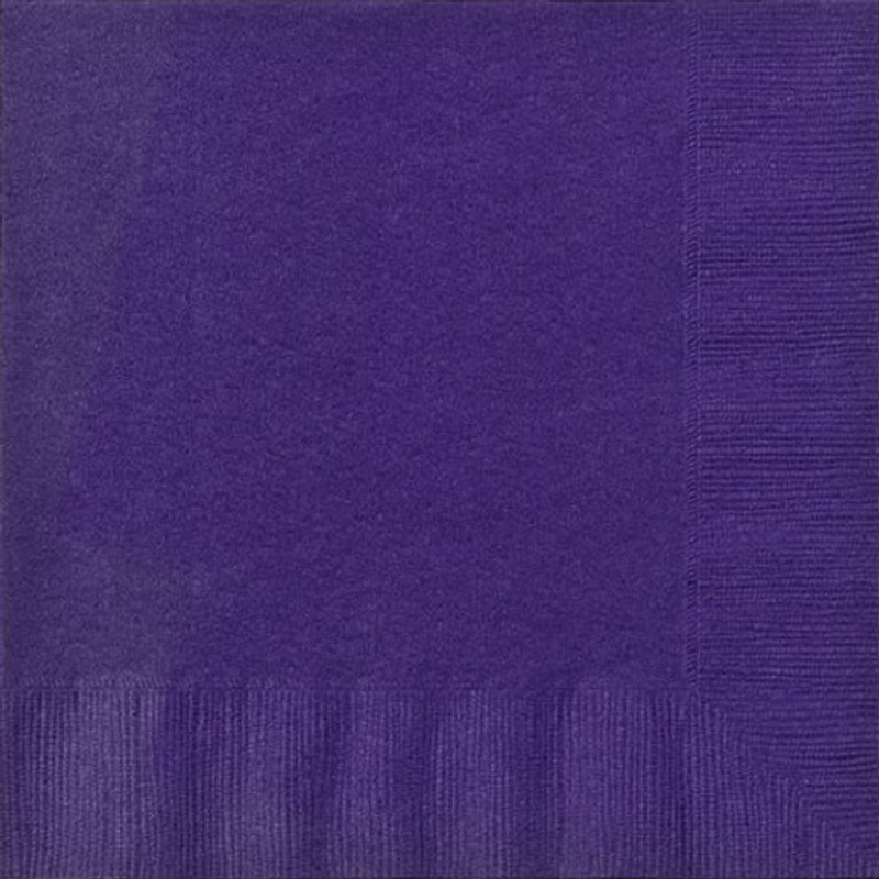Purple Lunch Napkins