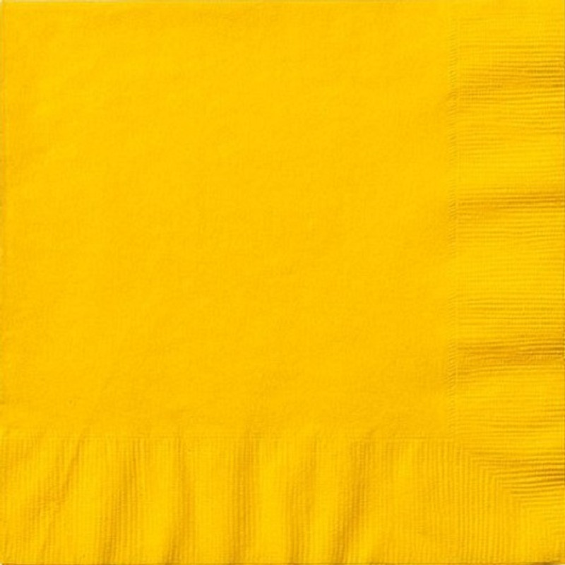 Sunshine Yellow Lunch Napkins
