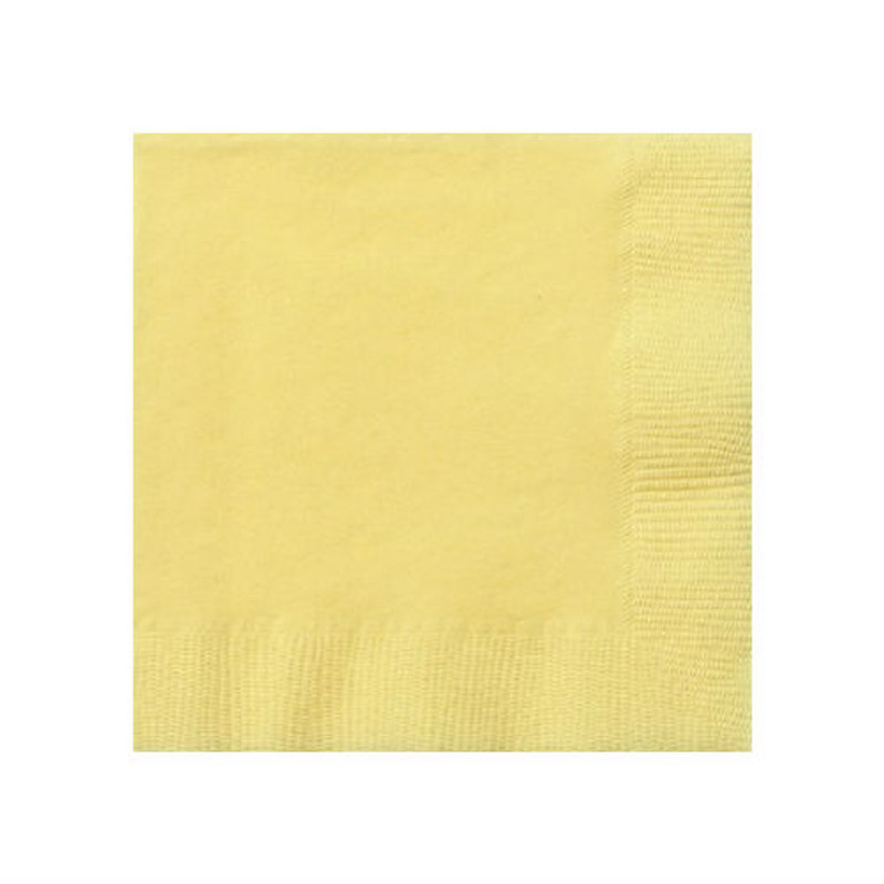 Light Yellow Beverage Napkins
