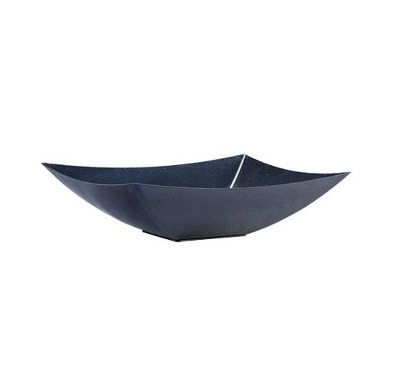 Lillian 64 oz. Black Rectangle Plastic Serving Bowl