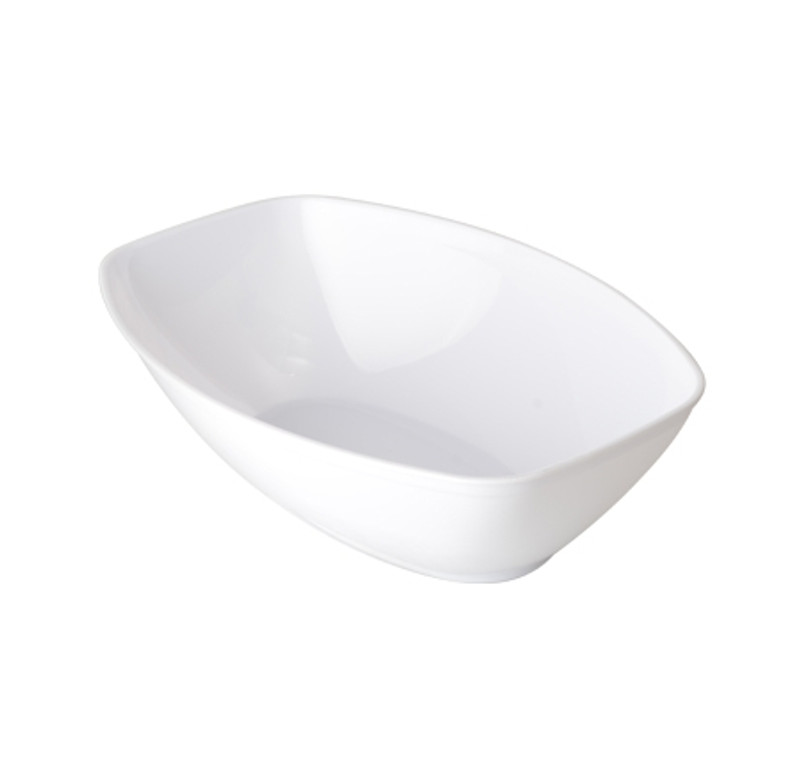 1/2 Gallon White Plastic Luau Bowl