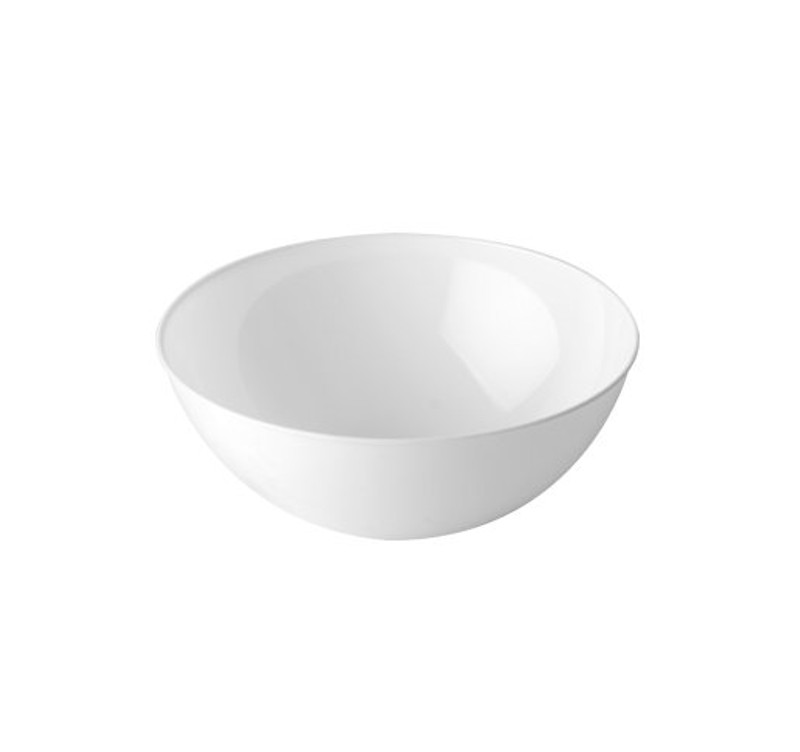 100 oz. White Plastic Serving Bowl