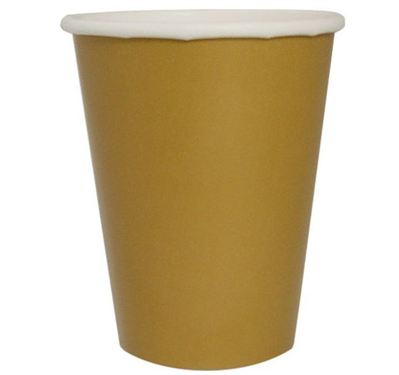 Gold 9 oz. Paper Hot/Cold Cups