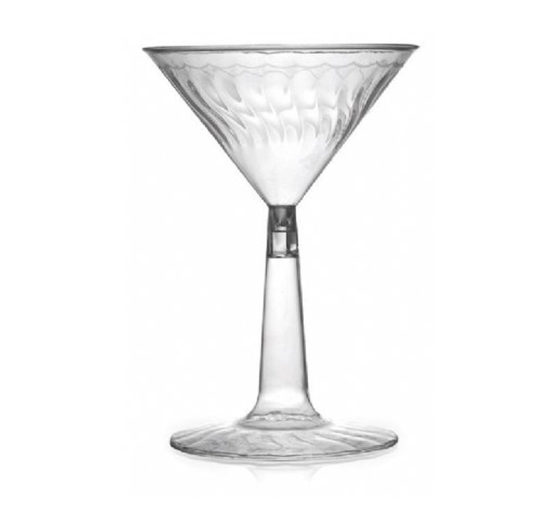 Flairware 6 oz. Plastic Martini Glasses