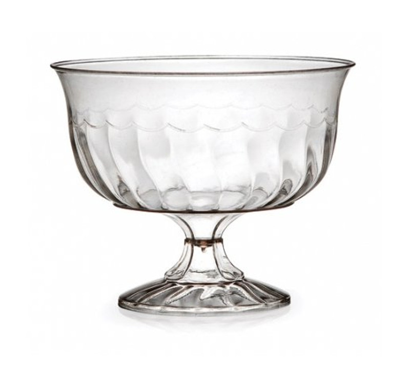 Flairware elegant dessert cups with scalloped design. Perfect for classy dinner parties or weddings. These cups are made from heavyweight plastic. Sold in wholesale bulk and retail.