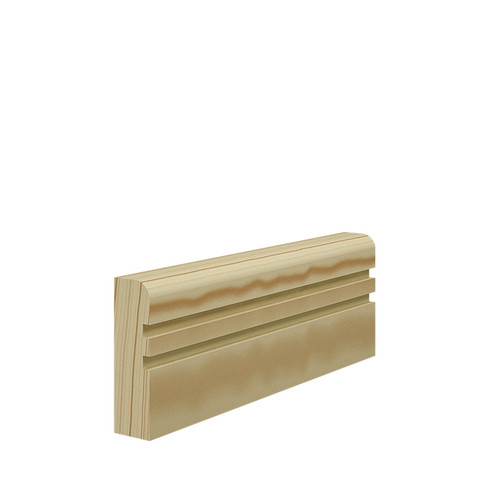 Grooved 2 Bullnose Pine Architrave in 21mm Thickness