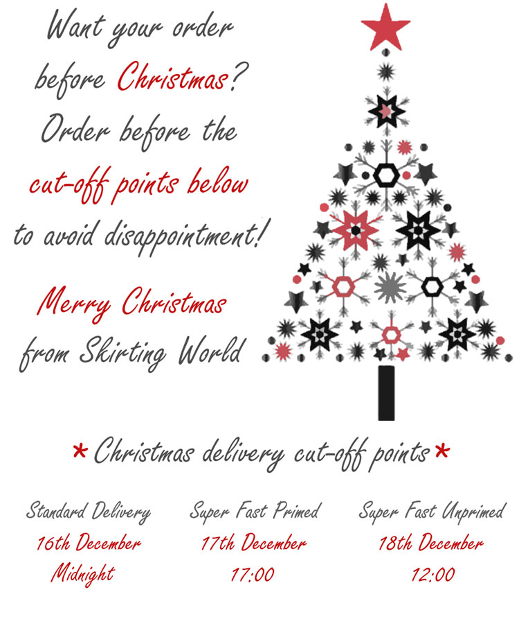 Christmas Delivery Schedule 2018
