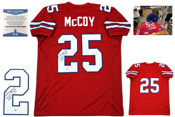 Lesean McCoy Autographed Jersey - red