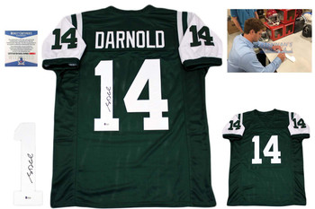 am Darnold Autographed Jersey - green