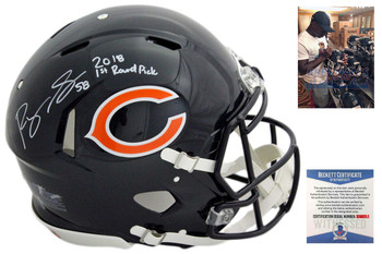 Roquan Smith Autographed Signed Chicago Bears Authentic Speed Helmet