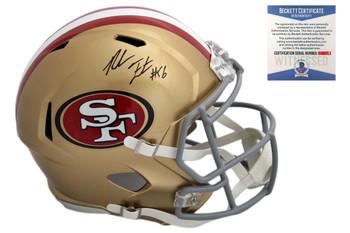 Reuben Foster Autographed Signed San Francisco 49ers Speed Rep Helmet