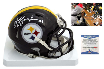 JuJu Smith-Schuster Autographed SIGNED Pittsburgh Steelers Speed Mini Helmet