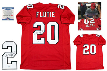 Doug Flutie Autographed Signed Jersey - Red - Beckett Authentic