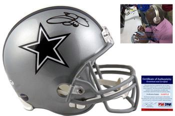 Emmitt Smith Autographed Dallas Cowboys Full Size Helmet - PSA/DNA