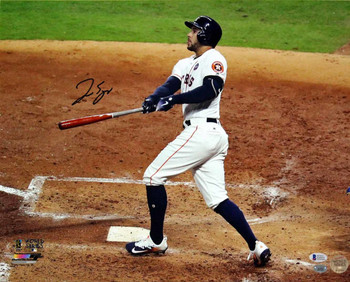 George Springer Autographed Signed 16x20 World Series Photo